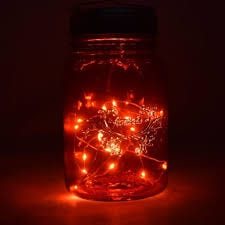 Feeling crafty? Make your own night light with battery operated lights in a jar.